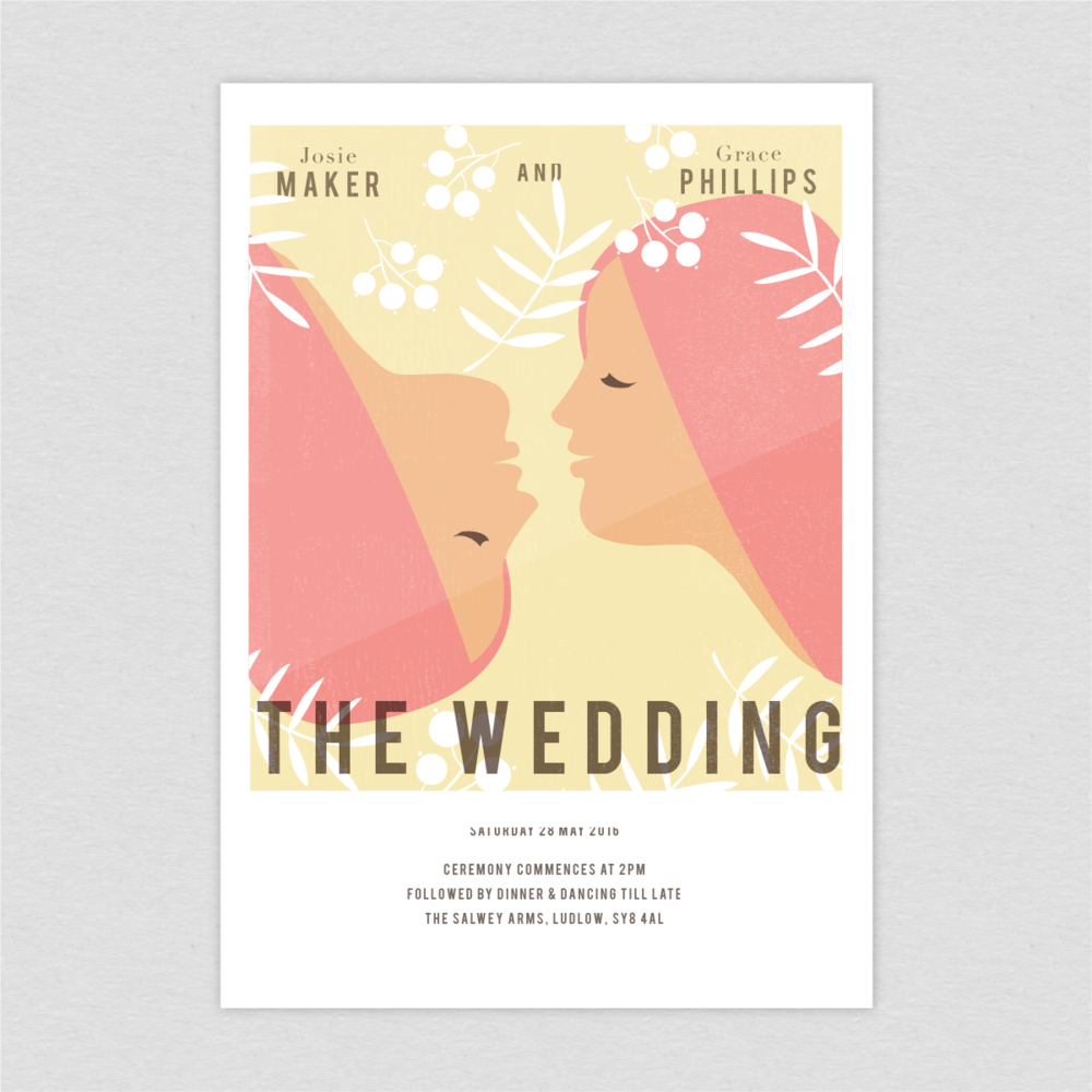 Dearly Beloved Vintage Movie invite same sex lesbian wedding