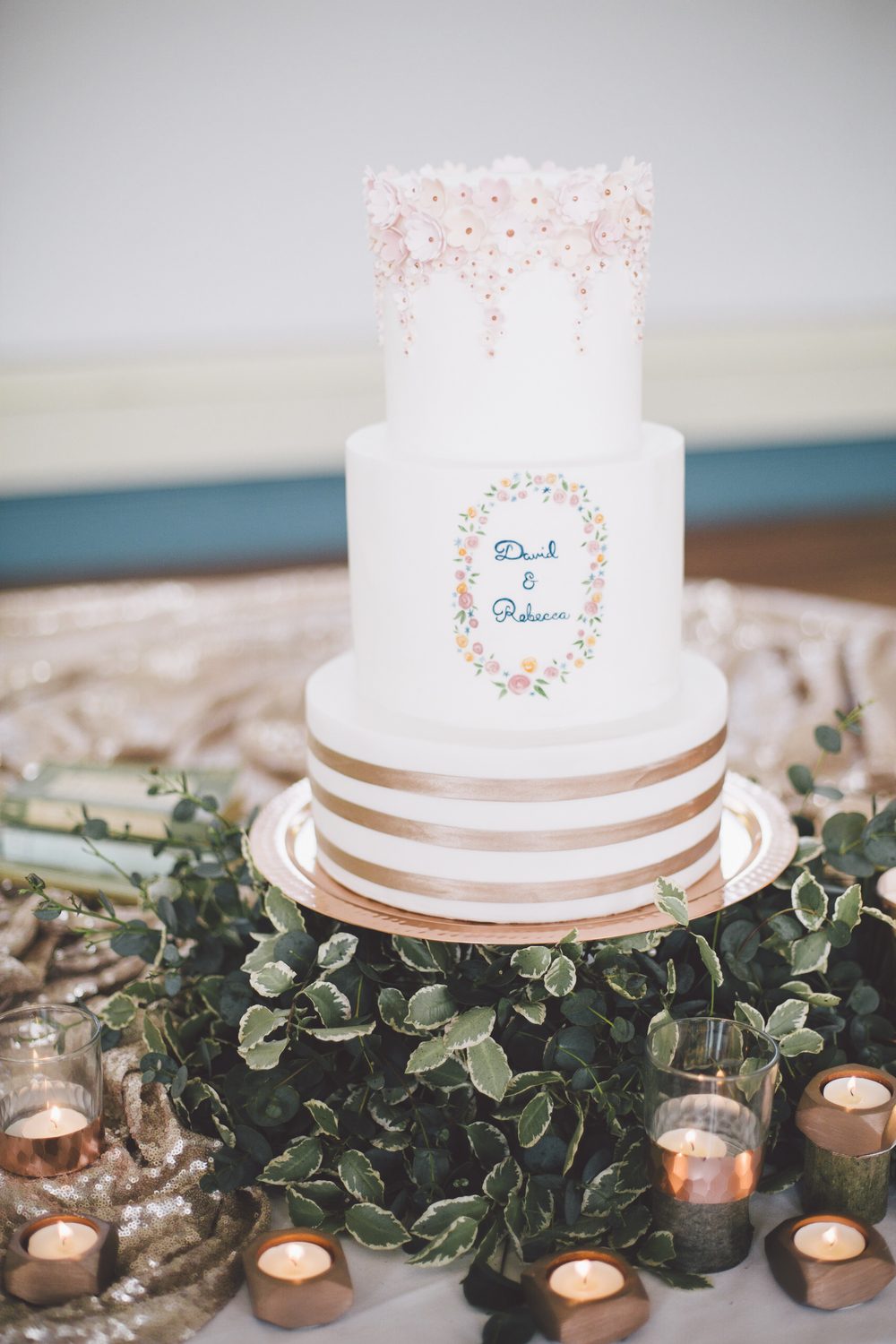 Cake by Edible Essence. Photo by Grace Elizabeth Photography