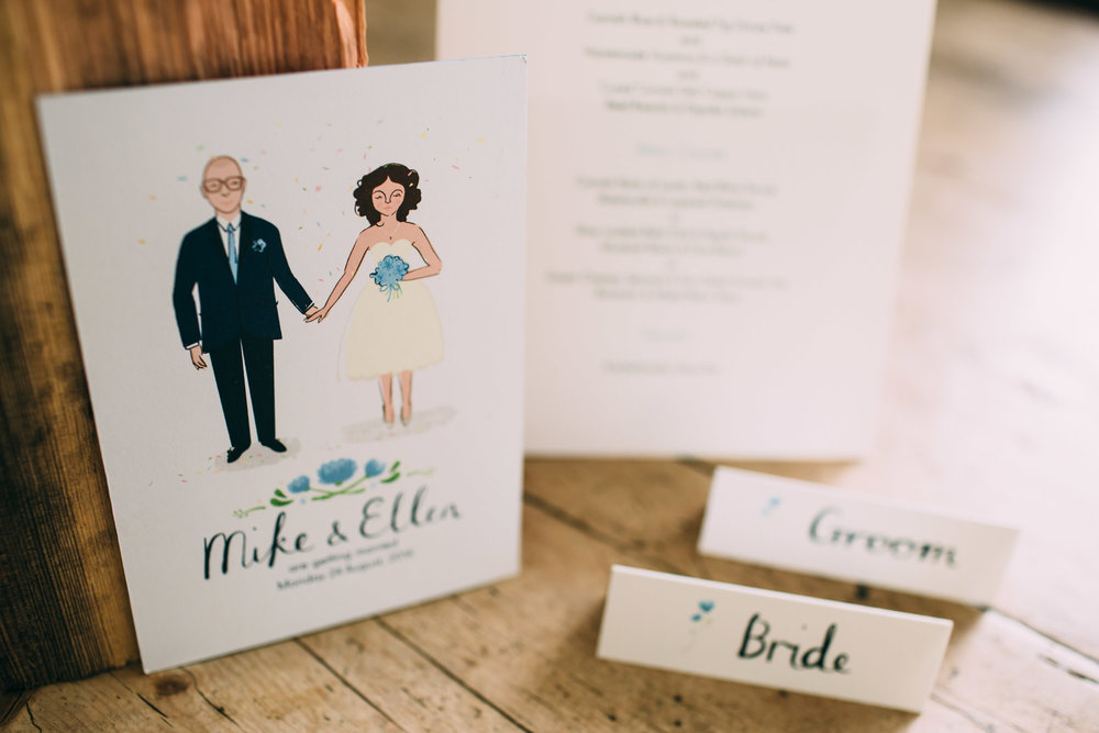 Wedding stationery product shot by  Freckle Photography