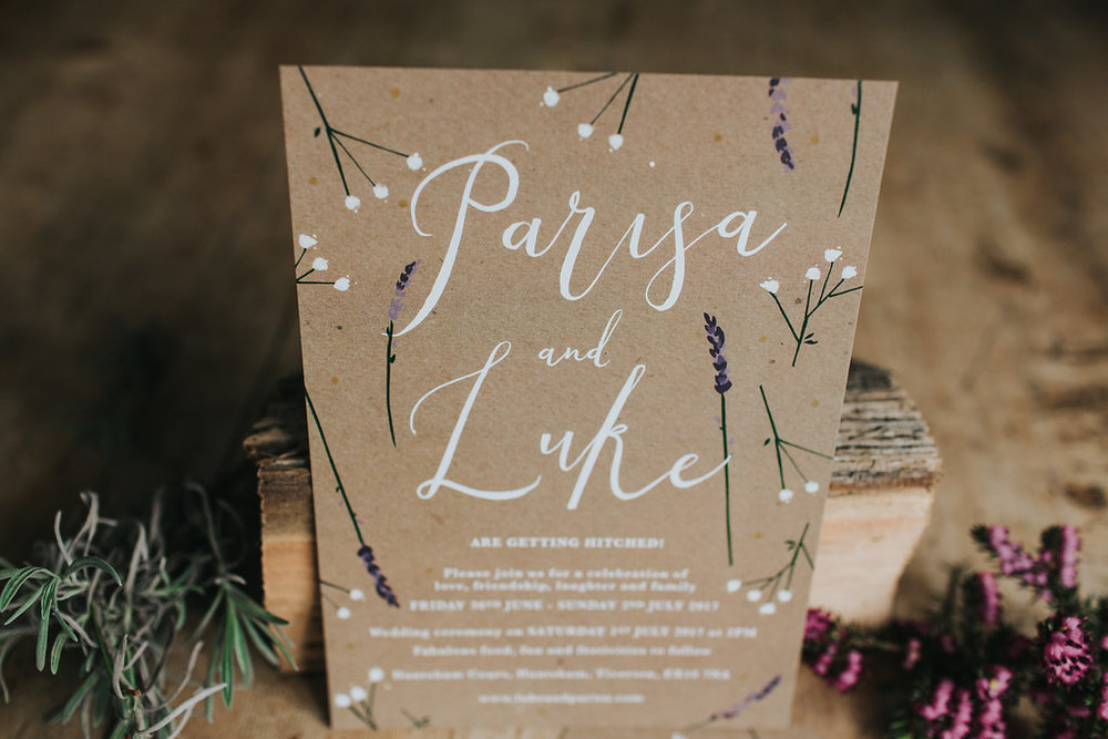 dearly beloved bespoke rustic wedding invitations huntsham house 3
