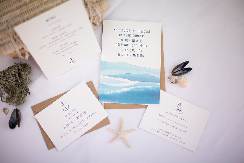 Our  Nautical Collection  includes Save the Dates, invitations, RSVPs, menus and more...