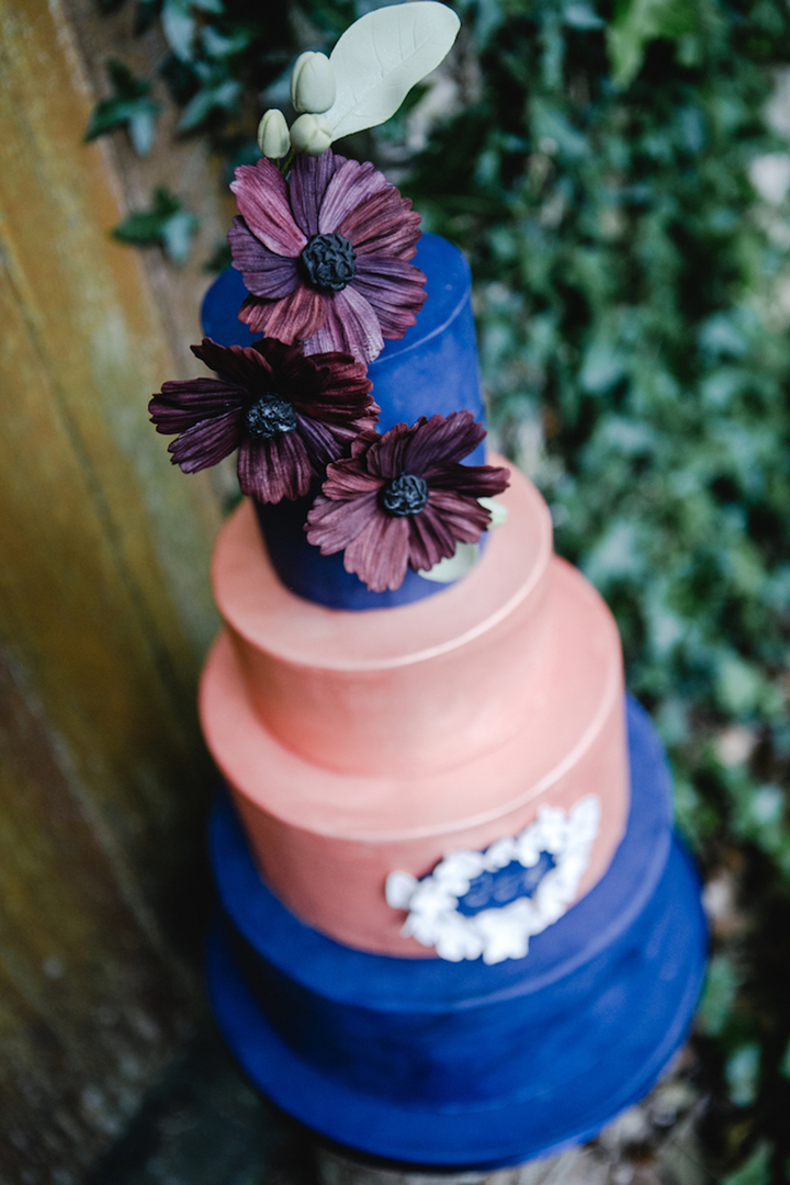 This copper creation was baked by  The Little Lark Cake Company