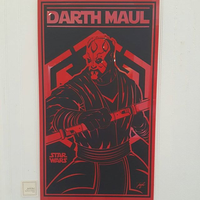 FOR SALE: Darth Maul piece I created for a Star Wars art show. 17 inches x 30 inches. Black vinyl over red acrylic plastic. $125 OBO. Contact me directly #starwars #darthmaul #disney #artforsale #art