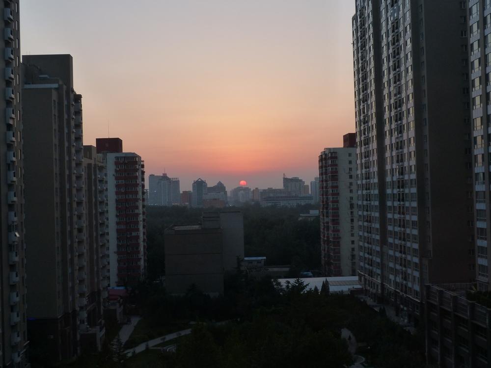 Pékin. Indice de qualité de l'air : 12