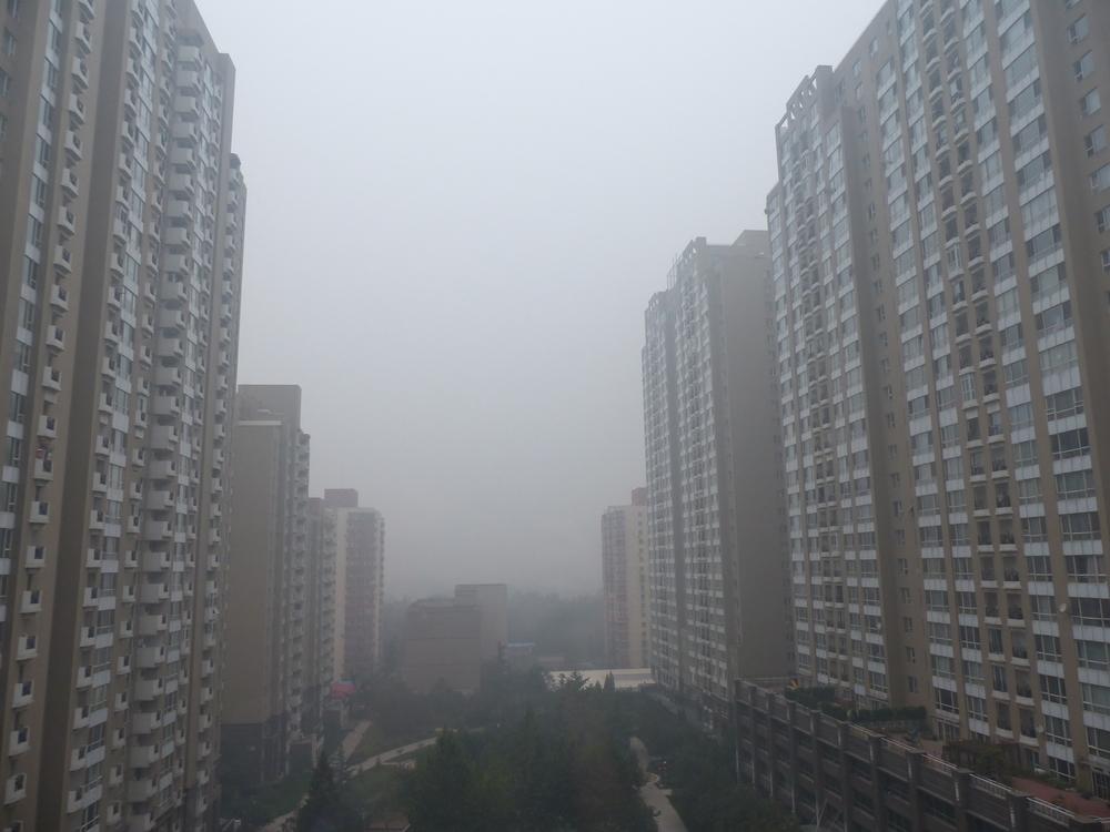 Pékin. Indice de qualité de l'air: 486