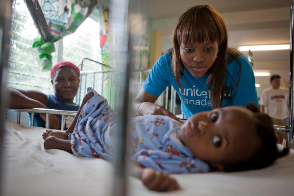 Humanitarian trip to Haiti -Solange Tuyishime - UNICEF Canada Ambassador