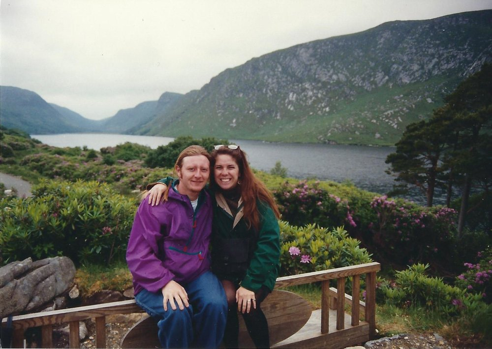 Meredith and I at Glenveagh Castle in County Donegal, June 1991