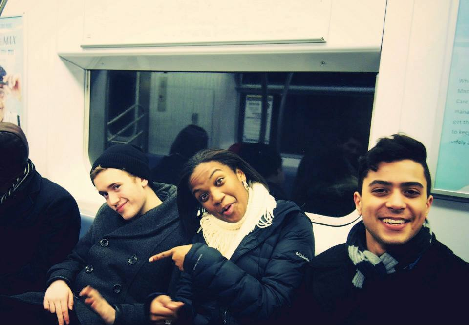 My dancer roommates and I on the subway