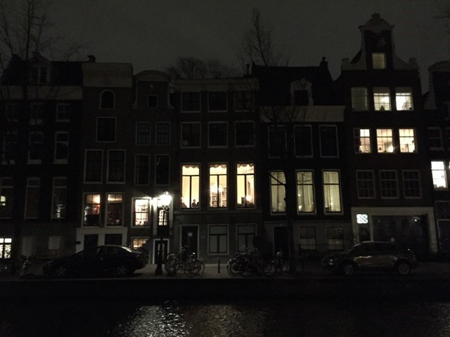 One of my favorite pictures form the trip: Amsterdam at night.