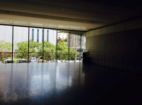 Inside the Kaufman dance studio – my favorite place to work.