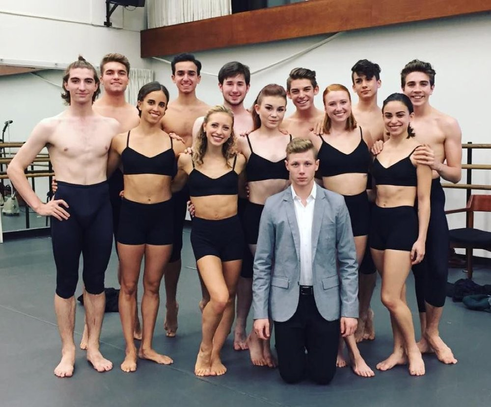 "My cast & myself right before going onstage for my piece ""W. 65th Street"" choreographed for the October Choreographic Workshop."