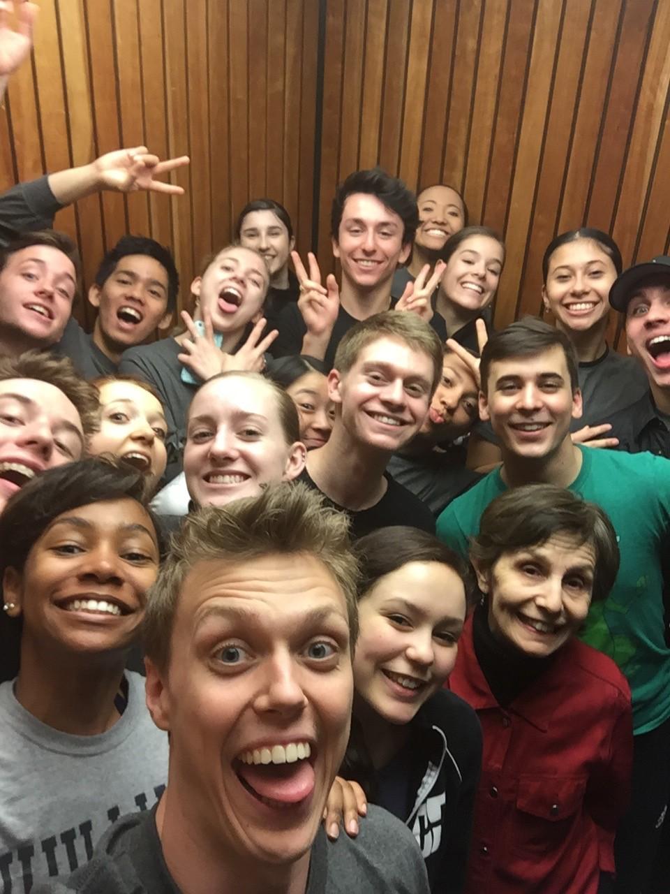 (Elevator selfie!)