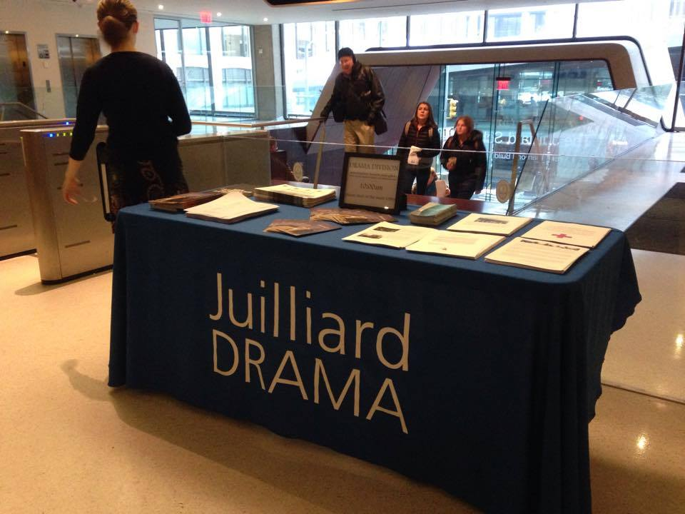 Juilliard Drama Front Desk during the January 2015 Auditions
