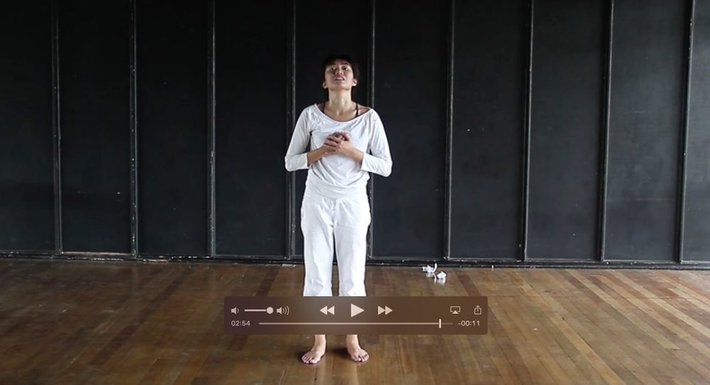 "A Screenshot of a Filmed Contemporary Monologue - ""Saint Joan"" by George Bernard Shaw"