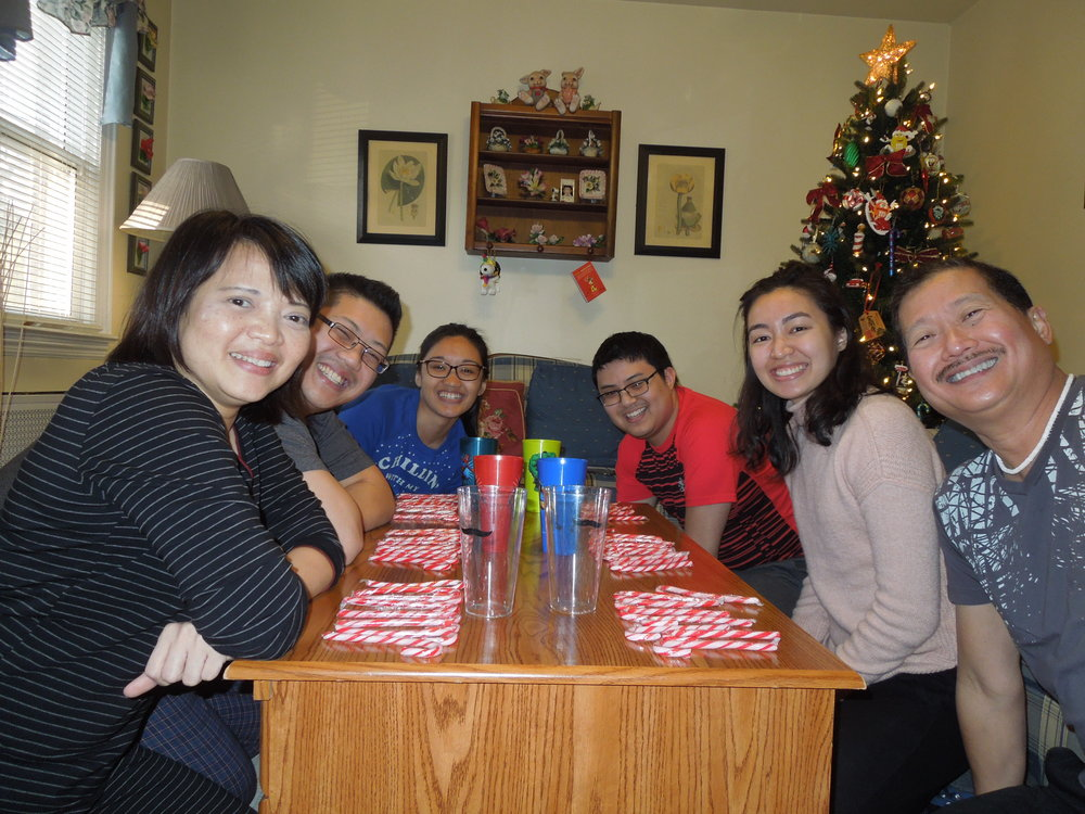 Picture: Regina with her sister and relatives in New Jersey over the Holidays