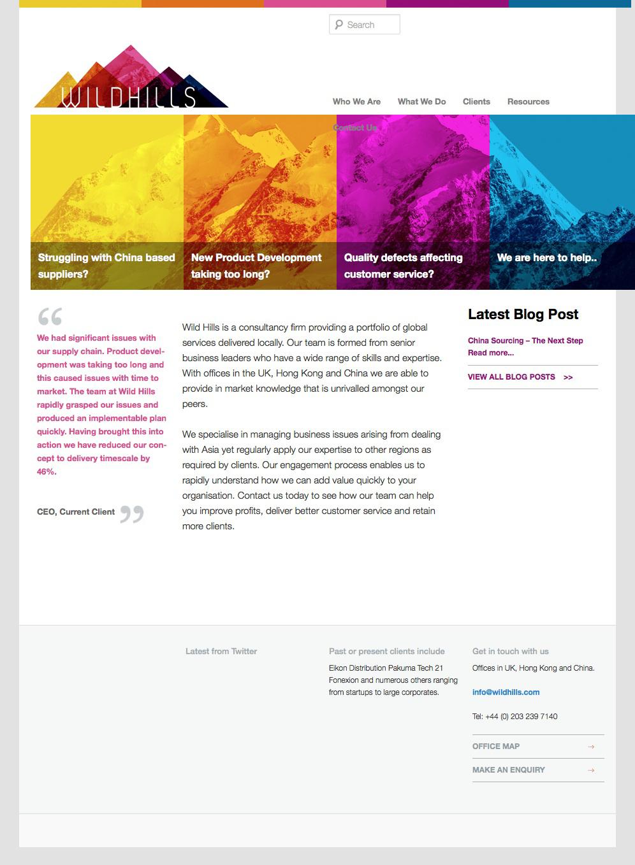 Wild Hills website