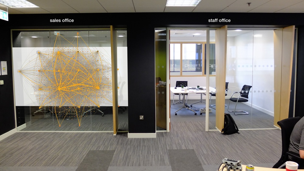Design for office window graphics