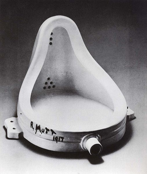 Marcel Duchamp put a urinal in an art gallery in 1917 to question definitions and boundaries of art