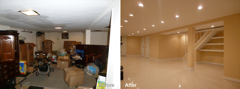 """Review by: Mark W. in Brooklyn, NY       Rating: ★★★★★ 5.00                                              Project: Remodel a Basement     Start to Completion: 5 Weeks           Comments:""""Look no further. You've found your guy. I've had my share (and my fill) of lousy contractors. Not here. Kevin is a professional. He takes a difficult, painstaking process (as my basement remodel was) and turns it into an easy, normal, everyday thing, like buying milk at the store. Kevin comes up with better ideas than you had, sometimes at his own expense, then delivers what he promises, on budget and on time. His crew not only did what I was expecting but exceeded it. I can tell you first hand this does not happen with other contractors. He also guarantees his work, weeks after the job is done, he comes back until everything is perfect."""""""