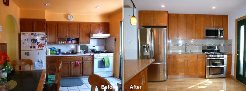 """Review by: Henry B. in Brooklyn, NY   Rating: ★★★★★ 5.00 Project: Remodel a Kitchen      Start to Completion: 2.5 Weeks Comments:""""A wonderful design well done. Prior to me contacting Beyond Design and Remodeling, I had various estimates to have my kitchen redone by a few contractors. I settled for Beyond Design. Kevin Parker came to my home, looked the kitchen over and offered a few ideas himself. I felt very comfortable with him. In about a month, the kitchen was under re-construction. Kevin's work crew was very prompt to work, was attentive to my needs and even did a few things that I felt was beyond their scope of work. At the end of the day, they left the site very clean which I didn't expect because of the demolition work involved. Entire redesign was completed in less than 3 weeks. Thank you Beyond Design and Remodeling. I and my wife is ecstatic about the new look. We are very happy with it. I plan on having additional work in the future and Beyond Design and Remodeling is my choice of contact."""""""