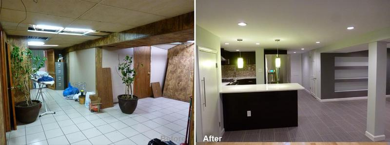 """Review by: Elva L. in Cambria Heights, NY Rating: ★★★★★ 5.00 Project: Remodel a Basement    Start to Completion: 5 Weeks Comments:""""Kevin and his crew completed our job with efficiency professionalism. No detail was overlooked. They listened to all our requests and honored every aspect of the contract. The workers were respectful, punctual, and showed up everyday until the completion of the job. I would not hesitate to recommend Beyond Design for remodeling projects and we would use them again if we have any other projects. It is not easy to work with a family when everyone has a different idea for the same area, but somehow Beyond Design was able to incorporate all our design ideas into a cohesive and beautiful basement that made us all satisfied and happy."""""""
