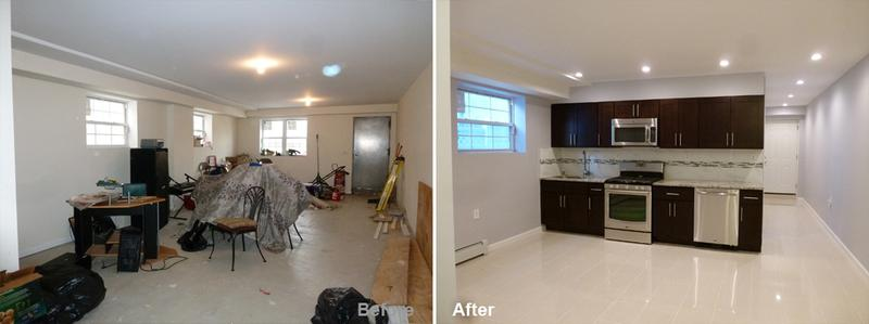 """Review by: Franklyn O. in Bronx, NY        Rating: ★★★★★ 5.00 Project: Remodel a Basement        Start to Completion: 2.5 Weeks Comments:""""Thank you, thank you, and thank you!!! I've had both large and small construction projections done in the past, but none has gone has quickly and seamlessly as my basement remodel completed by Kevin and his team from Beyond Design & Remodeling. Kevin is a class act; he's efficient, uses high quality materials, performs work with a great attention to detail and completes projects as promised and on time. I was more than impressed by Kevin's ability to anticipate and respond to our needs before we identified them. For example, once the project started, we noticed that the walkway to our basement did not have adequate lighting. Upon mentioning this to Kevin, he noted that he had already included wiring in the project plan to add an exterior light to the walkway to remedy this issue. Again, thank you Kevin for all of your help. We are very happy with the results and would recommend you and your company to anyone needing assistance with a construction project."""""""