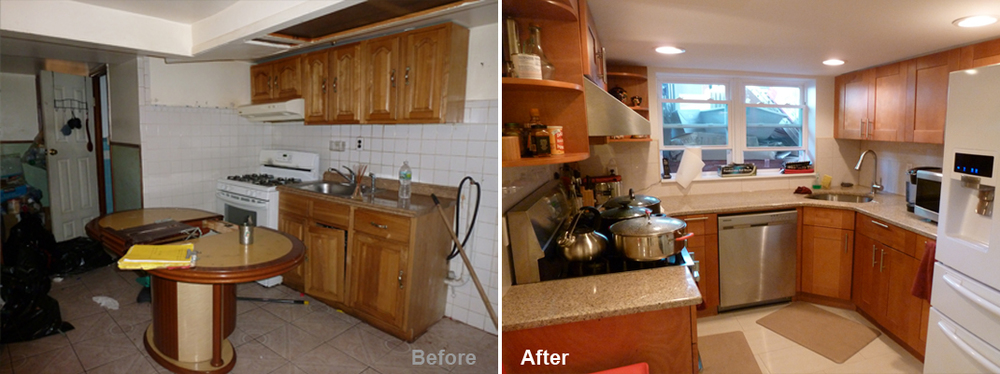 """Review by Jennifer D. in Jamaica, NY       Rating: ★★★★★ 5.00 Project: Remodel a Basement      Start to Completion: 2.5 Weeks Comments:""""I recently remodeled my basemen and the end result surpassed my expectations. (...) After many bad experiences with contractors on past projects, I was hesitant to start my new project; all that changed with the first visit from Kevin. He actively listened to my ideas and concerns, and proposed a plan that incorporated my dreams and his vision. Kevin was always a phone call away and was never too busy to deal with my questions and concerns, no matter how small. He managed to make a big renovation job stress free for me. (...) I now have a functional and comfortable living space. I have recommended Kevin to family, friends and colleagues and will continue to do so because of his great work. (...) We look forward to working with them on future projects."""""""