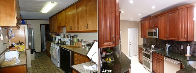 """Review by Wilson N. in Richmond Hill, NY    Rating: ★★★★★ 4.83 Project: Remodel a Kitchen         Start to Completion: 3 Weeks Comments:""""We wish to thank Beyond Designs for the fantastic job they did with our new kitchen. We absolutely love it! Kevin is a professional with a keen eye for design. He explained the project thoroughly and estimated 3 weeks to complete. After seeing his other projects from his client references, we felt comfortable and came to an agreement. The project started on 09/24. Kevin and his crew were extremely reliable and never missed a day; always working precisely and efficiently. On 10/17 the project was completed and we couldn't be happier! Our family and friends love our new kitchen! I recommend Beyond Designs to anyone who wants a dream kitchen. """""""