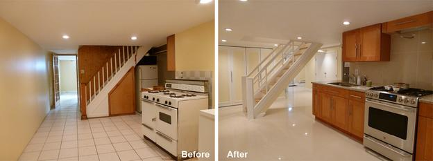 """Review by: Jenice B. in Brooklyn, NY        Rating: ★★★★★ 4.83 Project: Remodel a BasementStart to Completion: 6 Weeks Comments:""""I am so happy with the quality of work they provided. They are clean and very meticulous. They were always on time and kept to their delivery date; very professional. They listened to our remodeling needs and created a space that we're so impressed with. I'm a very meticulous person who knows what I want and expects good quality workmanship and I found that with Kevin and his team. It was an absolute pleasure going through the process each day seeing the progress. Renovation/remodeling can be such a stressful experience and sometimes a nightmare. I was neither stressed nor was I concerned at anytime if I made the right decision. Thank you guys - a job well done."""""""