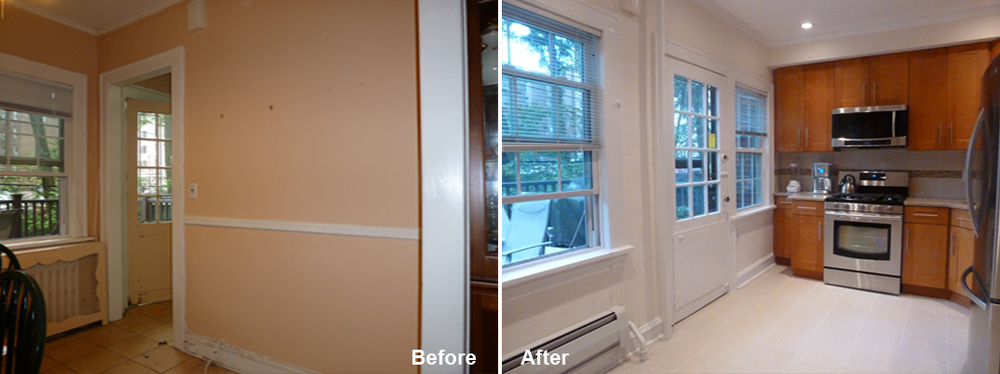 "Review by Gina F. in Forest Hills, NY                  Rating: ★★★★★ 5.00 Project: Remodel a Kitchen                    Start to Completion: 2.5 Weeks Comments: ""Kevin Parker and his crew are top-notch professionals. They completely remodeled and renovated our kitchen and made a difficult process easy. Kevin is a genius of design and came up with suggestions that made our small space appear spacious and inviting. What's more, the entire transformation took just 3 weeks! I totally recommend this company."""