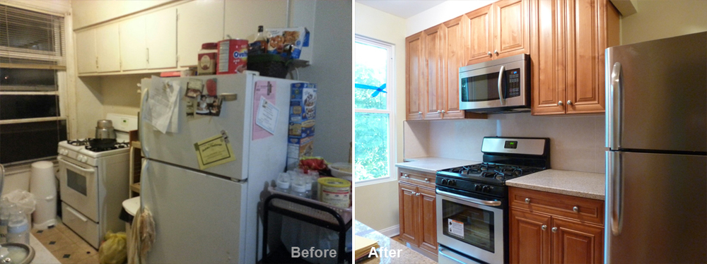 """Review by Kerry C. in Middle Village, NY Rating: ★★★★★ 5.00 Project: Remodel a Kitchen          Start to Completion: 2 Weeks Comments:""""Kevin and his team were exactly what we were looking for. We were looking to update an old unit in a 3 family building with a new kitchen, floor, painting, and electrical work. We screened several candidates from ServiceMagic/HomeAdvisor but Kevin's quote was the best. Kevin, with iPad in hand, was also the most thorough of all the candidates in providing details, photos, and sample materials on-site during the estimate. Work began as scheduled and the crew worked FAST...in fact, the job was completed a full week early! Kevin was always on call via phone/text and we couldn't be happier with the level of professionalism and execution."""""""