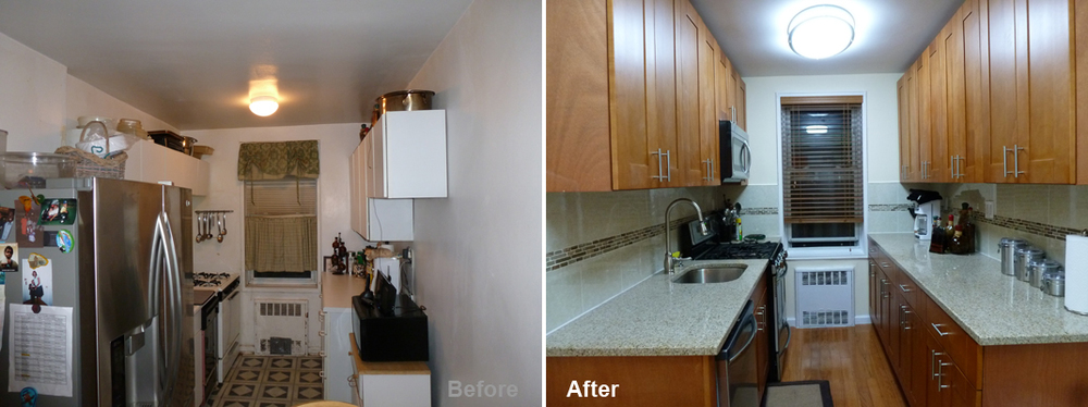 """Review by: Collena C. in Queens, NY Rating: ★★★★★ 5.00 Project: Remodel a Kitchen         Start to Completion: 2.5 Weeks Comments:""""Kevin Parker and Beyond Designs & Remodeling turned my kitchen into a space that I absolutely love! I was amazed to see how Kevin's vision for my kitchen started from a sketch that was then transformed into reality! Kevin's team was fast and professional, finishing my kitchen in just six days!! I'm BEYOND satisfied with the work that Beyond Designs & Remodeling performed. They did an outstanding job!!"""""""