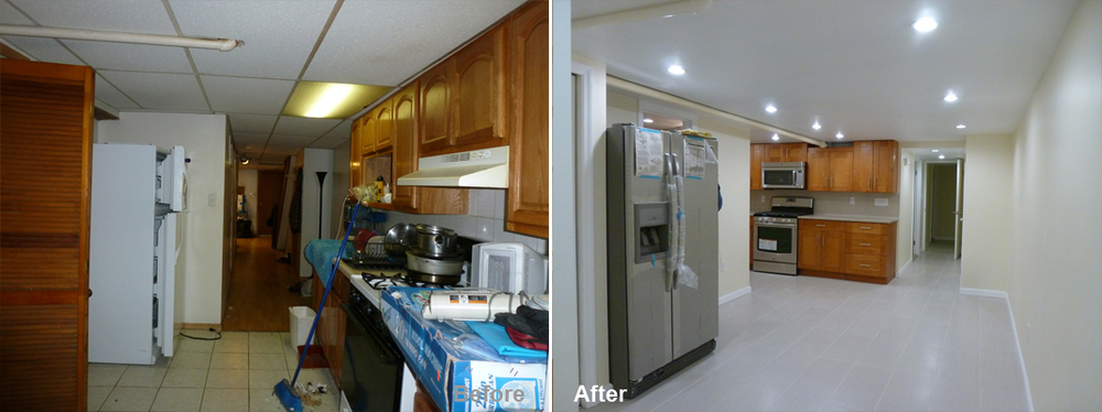 """Review by Norris K. in Brooklyn,NY         Rating: ★★★★★ 5.00 Project: Remodel a Basement        Start to Completion: 3 Weeks Comments:""""Professional, knowledgable, timely, and clean. I am happy with the end results. I feel good about the job. It was well done. I would recommend Kevin and Beyond Designs and remodeling to anyone and work with him again."""""""