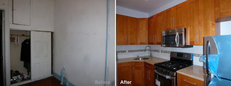 """Review by: Pamela C. in Brooklyn, NY Rating: ★★★★★ 5.00 Project: Remodel a Kitchen&Bathroom Start to Completion: 4 Weeks Comments:""""They came and finished in one month my kitchen and bathroom. They were fast and efficient."""""""