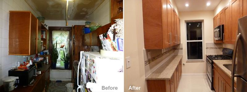 """Review by: Eva G. in Brooklyn, NY  Rating: ★★★★★ 5.00 Project: Remodel a Kitchen   Start to Completion: 2.5 Weeks Comments:""""I would like to inform you of the great remodeling job you did on my kitchen. I love the final result of the design on my floor, stove, cabinets & refrigerator. I will let others in the future. Thank you!"""""""