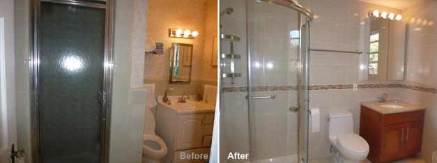 """Review by Gerald S. in Forrest Hills, NY     Rating: ★★★★★ 5.00 Project: Remodel a Bathroom        Start to Completion: 2 Weeks Comments:""""At the beginning, Kevin worked with us planning and making suggestions regarding the placement and dimensions of the various components in the bathroom. He was always available for questions and always answered my calls. The agreed upon time schedule was carefully managed by calling in more men when necessary. His crew was competent, courteous, accommodating and trustworthy, an important factor for us as my wife and I could not be home all the time during the construction. Debris from the demolition was stored and removed in a timely manner and great care was taken not to inflict damage on other parts of the house. We were continually updated regarding the time schedule and the job was completed before the predicted date.In essence, everything that was promised was done and we could not be more delighted with our new bathroom. We would enthusiastically recommend Beyond Designs."""""""