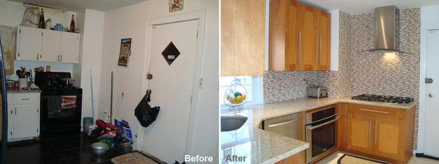"""Review by: Irene F. in Brooklyn, NY       Rating: ★★★★★ 5.00 Project: Remodel a Kitchen        Start to Completion: 2.5 Weeks Comments:""""I LOVE my kitchen! I'm so proud of it! Mr.Parker, I would recommend you to everyone; your company are true professionals. I give you five stars. Your workers are clean, quiet and very nice gentlemen. I have no complaint. I will be contacting you soon to do my bathroom. Thank you so very,very much. Yours Truly Ms. Irene Funn."""""""