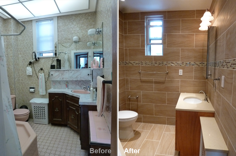 """Review by: Lino L. in Astoria, NY          Rating: ★★★★★ 5.00 Project: Remodel a Bathroom       Start to Completion: 2.5 Weeks Comments:""""We absolutely love our new bathroom. It is now so spacious and modern. Kevin and his team were professional, courteous and punctual. He was hands-on throughout the project and easily accessible to us. We always get compliments on our new bathroom and we refer all of our family and friends to Beyond Designs without hesitation. It was a job very well done!"""""""