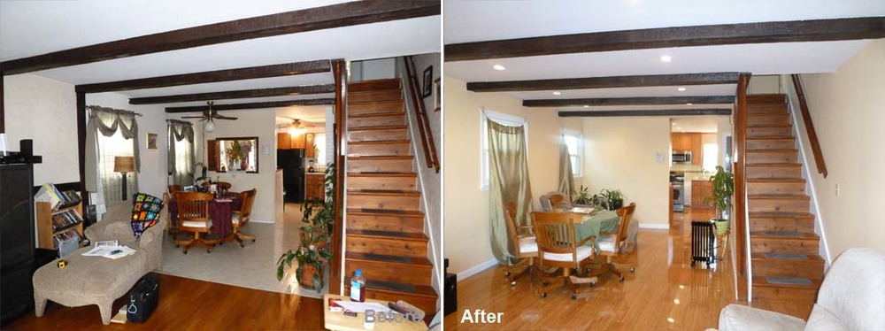 """Review by Jacqueline G. in Staten Island, NYRating: ★★★★ 4.00 Project: Remodel a Kitchen Start to Completion: 3 Weeks Comments:""""Thank you again and wish you folks a great warm holiday.Thank you Kevin and crew for such a prompt delivery of the renovation of my first floor. Crew members arrived on time and knew just what to do. My project was finished in 2 1/2 weeks! Everyone who visits my home are in awe of the beauty of my flooring and the sleekness of the cabinetry design. I am looking forward to my next project with Beyond Designs & Remodeling."""""""