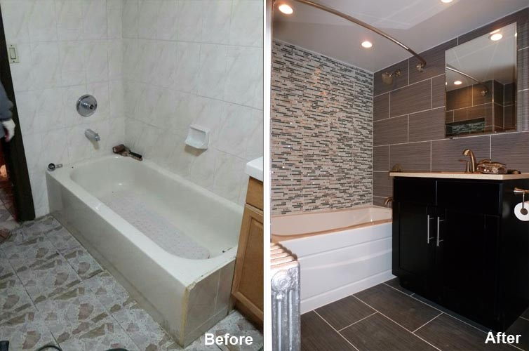 """Review by: Francine C. in Brooklyn, NY    Rating: ★★★★★ 5.00 Project: Remodel a Bathroom         Start to Completion: 2 Weeks Comments:""""I am so happy that i choose beyond designs to do my bathroom i love love it and i will recommend them to anyone that need any type of remodeling done you guys are wonderful."""""""