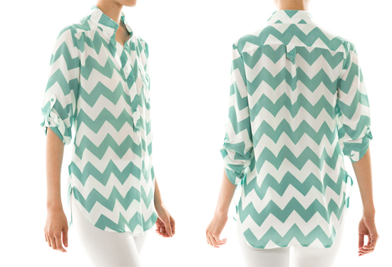 Kate and Linny Chevron Blouse