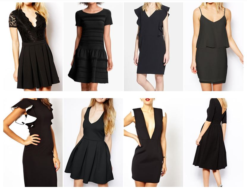 Keaton Row Little Black Dress Lookbook