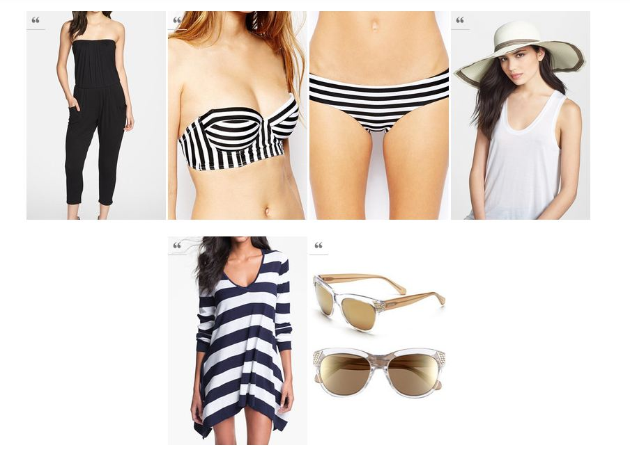 Modern beach wear Lookbook Conflicted Pixie