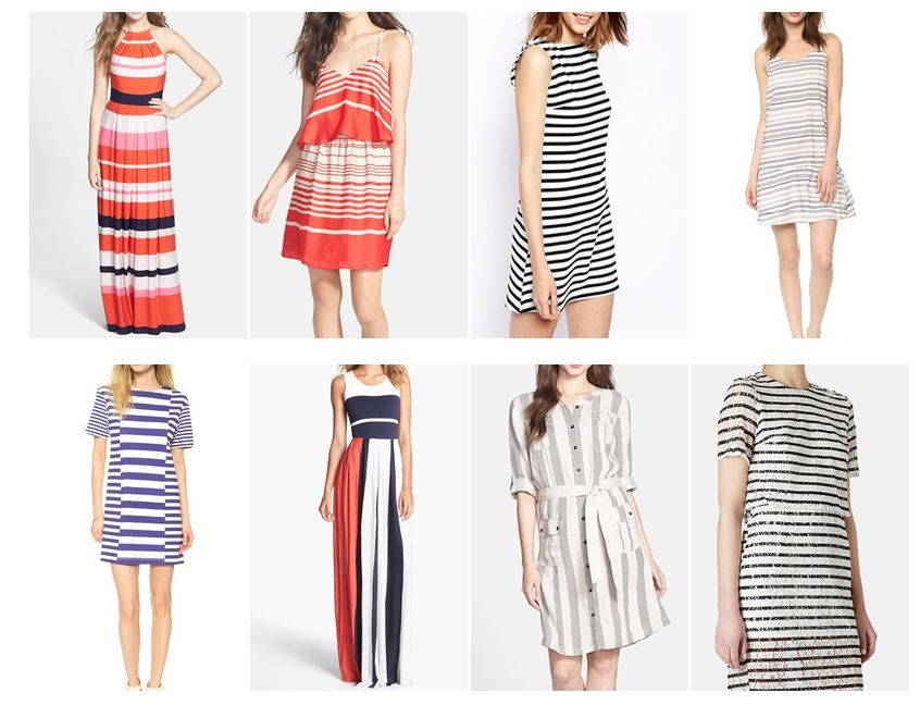 Striped Summer Dresses Conflicted Pixie