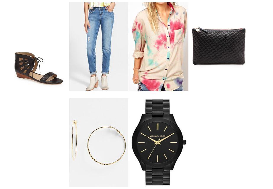 Tie Dye Shirt Conflicted Pixie Keaton Row Lookbook