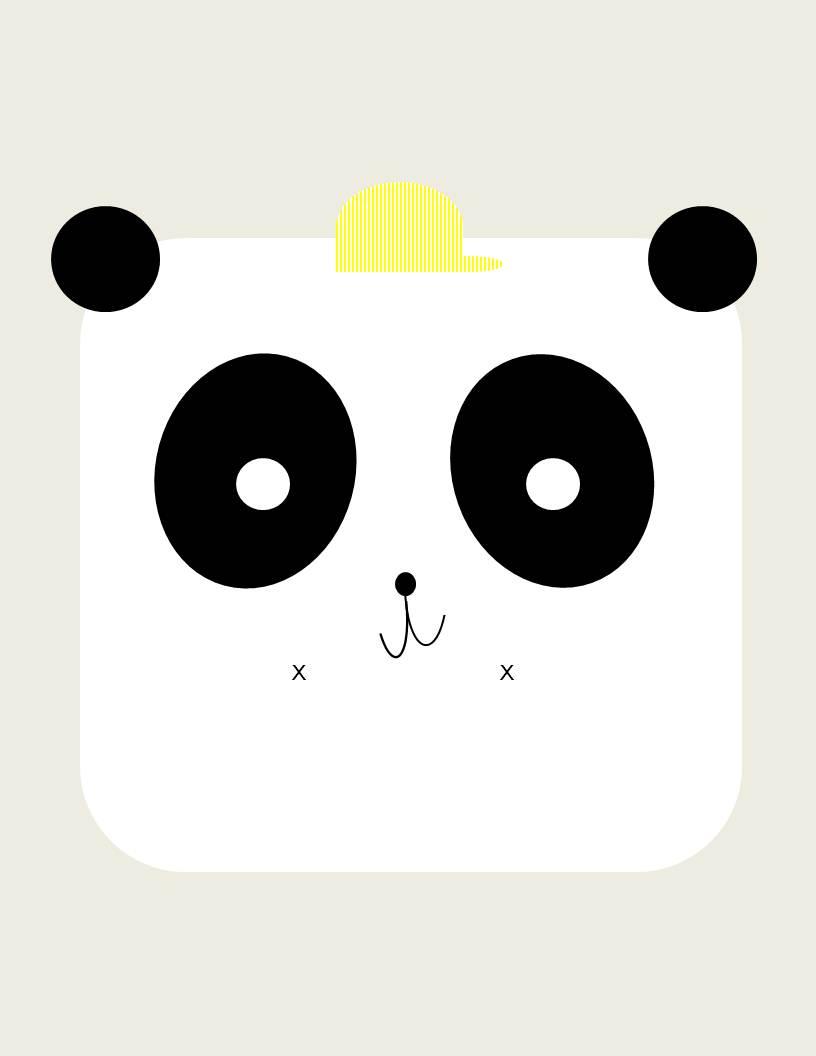 Boy Panda Printable Conflicted Pixie