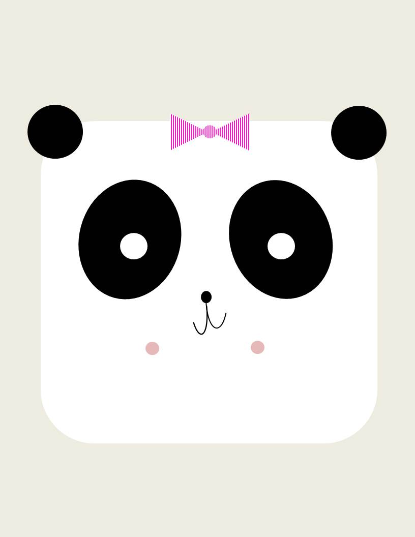 Girl Panda Printable Conflicted Pixie