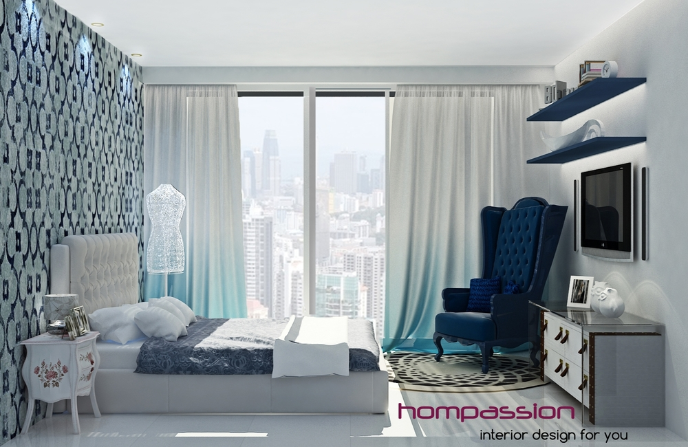 Heavenly High Rise Bedroom In Mumbai