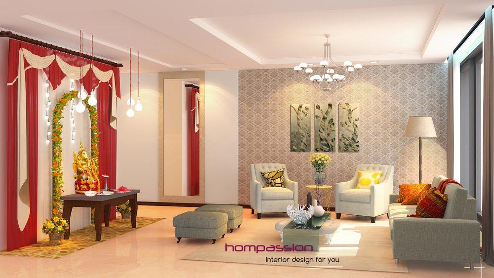 Ganpati at home hompassion for Interior design ideas living room mumbai