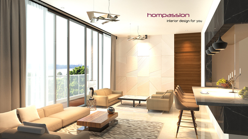 Living Room With Open Styled Dining Kitchen At Goregaon Mumbai 175 Sq Feet For Approx